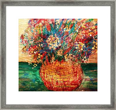 With Tears For Water Framed Print by Anne-Elizabeth Whiteway