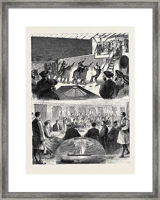 With The Princess Of Wales In Greece 1. An Entertainment Framed Print by Greek School
