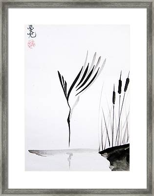 With Will And Determination Framed Print by Oiyee  At Oystudio