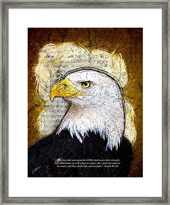 With Wings As Eagles Framed Print by Gary Bodnar