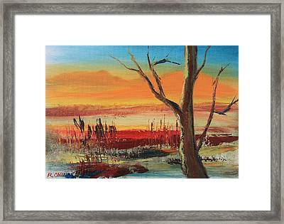 Withered Tree Framed Print by Remegio Onia