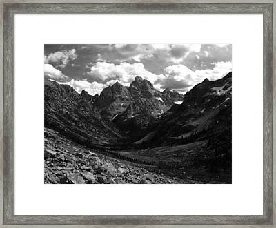 Within The North Fork Of Cascade Canyon Framed Print by Raymond Salani III