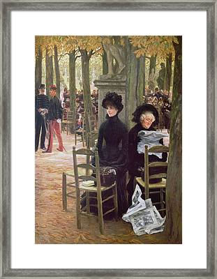 Without A Dowry Sans Dot, 1883-5 Framed Print by James Jacques Joseph Tissot