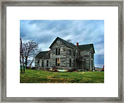 Withstanding Another Spring Storm  Framed Print by Julie Dant