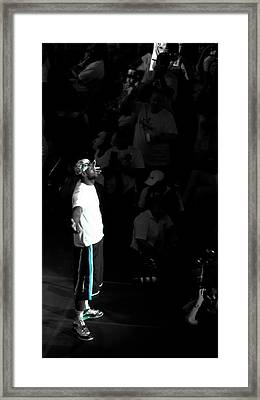 Witness Lebron James Framed Print by J Anthony
