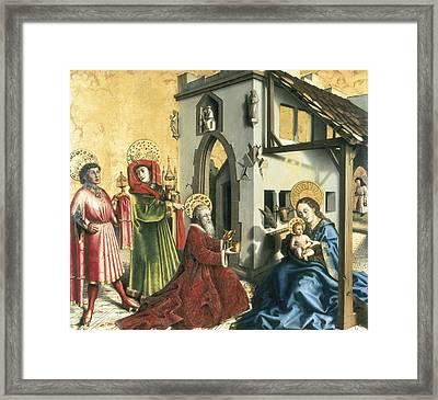 Witz, Konrad 1400-1445. The Adoration Framed Print by Everett