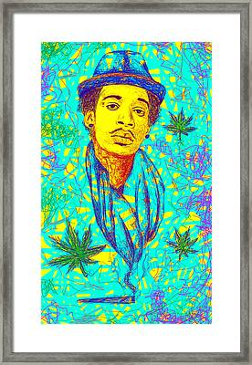 Wiz Khalifa Drawing In Line Framed Print by Pierre Louis