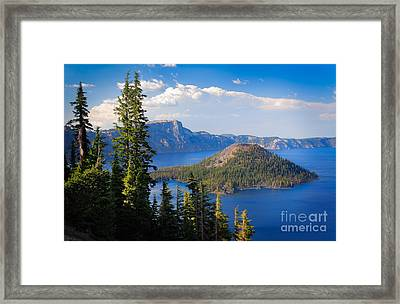 Wizard Island Framed Print by Inge Johnsson