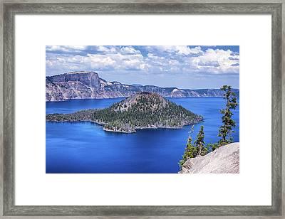 Wizard Island Framed Print by Joseph S Giacalone