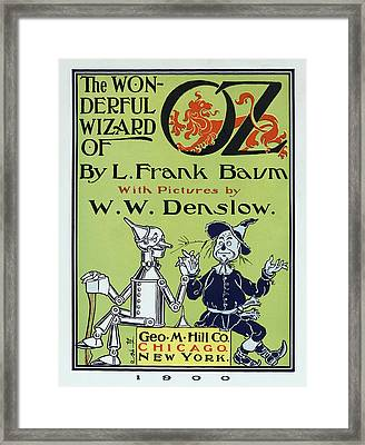 Wizard Of Oz Book Cover  1900 Framed Print by Daniel Hagerman