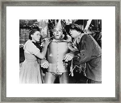 Wizard Of Oz Framed Print by Underwood Archives