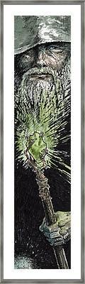 Wizard Framed Print by Sean Seal