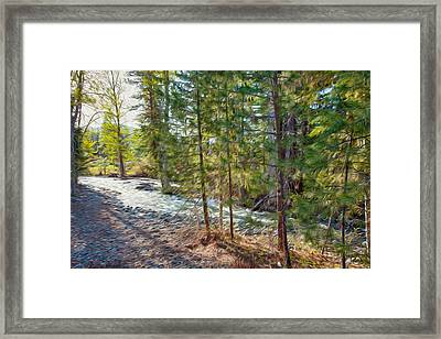 Wolf Creek Stretching Out Framed Print by Omaste Witkowski