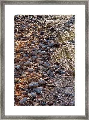 Wolf Creek Upstream Framed Print by Omaste Witkowski