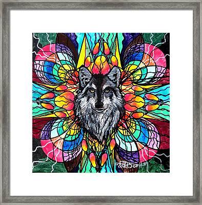 Wolf Framed Print by Teal Eye  Print Store