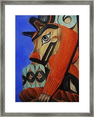 Wolf Totem Framed Print by Lucy Deane