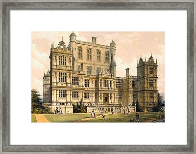 Wollaton Hall, Nottinghamshire, 1600 Framed Print by Joseph Nash