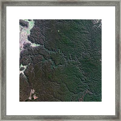 Wollemi Park Canyons Framed Print by Us Geological Survey