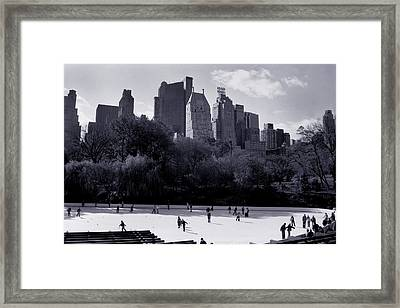 Wollman Rink Framed Print by Tonino Guzzo