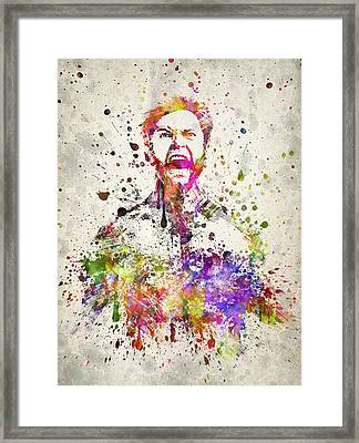 Wolverine In Color Framed Print by Aged Pixel