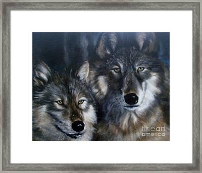 Wolves Framed Print by Julie Bond