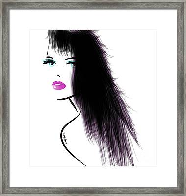 Woman 5 Framed Print by Cheryl Young