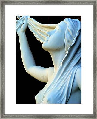 Woman And Her Hair  Framed Print by Jeff Lowe