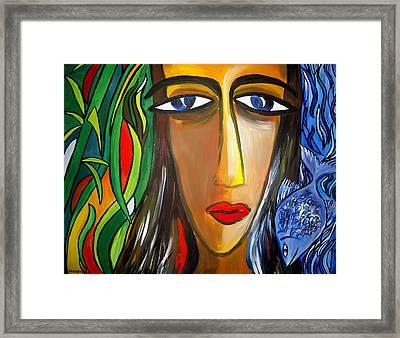 Woman And Nature Framed Print by Shakhenabat Kasana