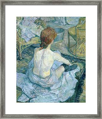 Woman At Her Toilet, 1896  Framed Print by Henri de Toulouse-Lautrec