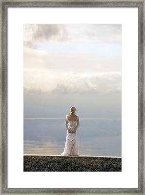 Woman At The Sea Framed Print by Joana Kruse