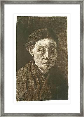 Woman Bareheaded Framed Print by Vincent Van Gogh