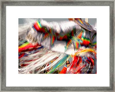 Woman Fancy Dancer Framed Print by Heidi Hermes