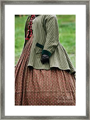 Woman From The Nineteenth Century Framed Print by Stephanie Frey