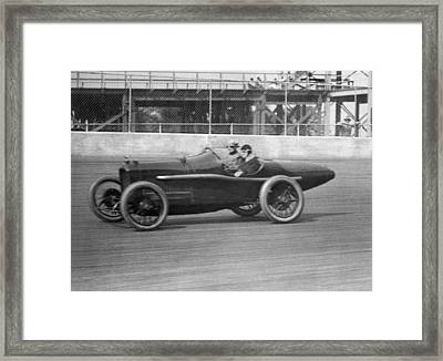 Woman Goes100 Mph In 1920 Framed Print by Underwood Archives