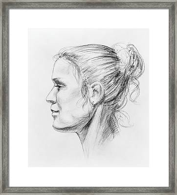 Woman Head Study Framed Print by Irina Sztukowski