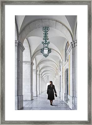 Woman In Archway  Framed Print by Carlos Caetano