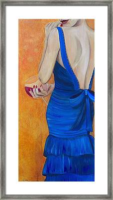 Woman In Blue Framed Print by Debi Starr