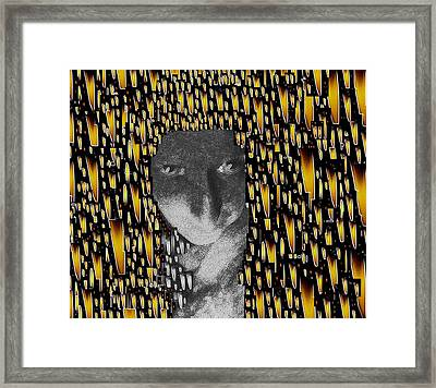 Woman In Flames Framed Print by Pepita Selles