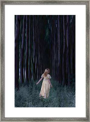 Woman In Forest Framed Print by Joana Kruse