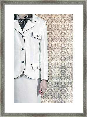 Woman In Skirt Suit Framed Print by Joana Kruse