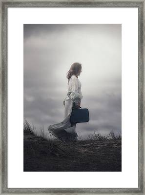 Woman In The Dunes Framed Print by Joana Kruse