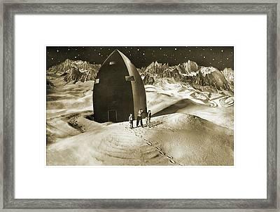 Woman In The Moon Framed Print by Detlev Van Ravenswaay