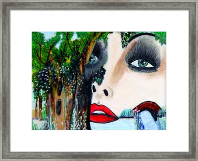 Woman In Trees Framed Print by Suzanne Thomas