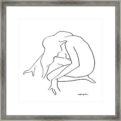 Woman Kneeling Framed Print by J Reifsnyder