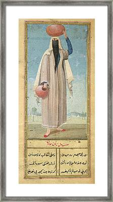 Woman Of Baghdad Framed Print by British Library