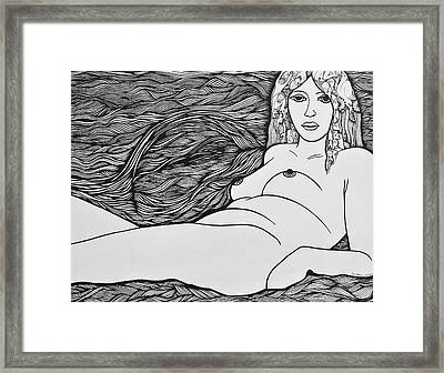 Woman Of Fifty Framed Print by Jose Alberto Gomes Pereira