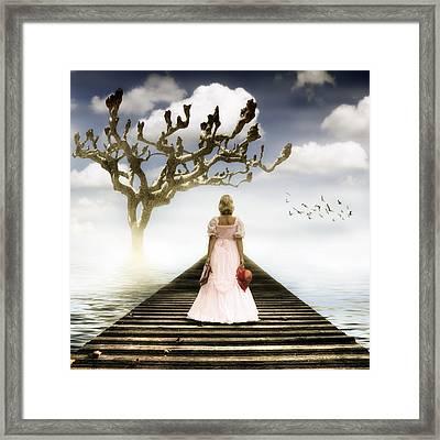 Woman On Pier Framed Print by Joana Kruse