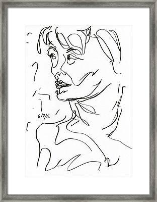 Woman Framed Print by Rachel Scott