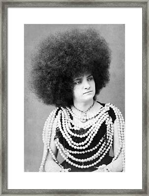 Woman Vaudeville Performer Framed Print by Underwood Archives