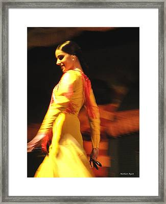 Woman With Castanets  Framed Print by Nathan Ryan